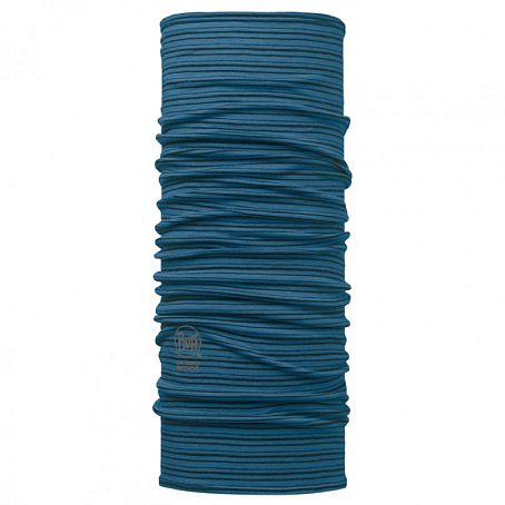 Купить Шарф BUFF Wool Patterned & Dyed Stripes MERINO WOOL SEAPORT BLUE STRIPES Банданы и шарфы Buff ® 1263390