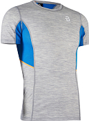 Футболка беговая Bjorn Daehlie 2020 Training Wool Summer Tshirt Light Grey Melange