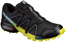 Беговые кроссовки для XC Salomon 2019 Speedcross 4 Black/Ever/Sulphur Spring