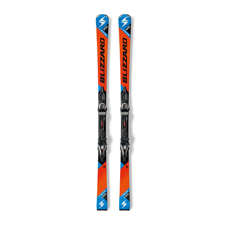 Горные лыжи с креплениями Blizzard 2015-16 WRC RACING + POWER14 TCX ORANGE-BLACK-BLUE