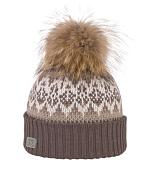 ШапкаГоловные уборы<br>Элегантная шапка с помпоном из натурального меха &amp;#40;енот&amp;#41; для городских условий, с возможностью отстегивания помпона.<br>Состав: натуральный мех, акрил<br>Цвет: натуральный<br><br>Пол: Унисекс<br>Возраст: Взрослый<br>Вид: шапка