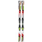 Горные лыжиГорные лыжи<br>Отличные лыжи для тех, кто хочет освоить гигантский слалом или просто для любителей длинных дуг и высоких скоростей. Лыжи для слалома-гиганта никогда ещё не были столь доступны. Деревянный сердечник, спортивная геометрия, технология Waveflex.<br> <br> Геометрия: 110-67-96<br> Радиус бокового выреза: 18.6m (176)<br> <br> Лыжи без креплений!