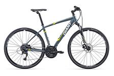 ВелосипедСпортивная посадка<br>Размер рамы: M<br>Уровень: Спортивный<br>Пол: Мужской, Унисекс<br>Назначение: Дорожный<br>Материал рамы: Алюминий<br>Рама: ALUXX aluminium, Алюминиевый сплав<br>Тип рамы: Хардтейл<br>Вилка: SR Suntour NEX HLO 700C, с ходом 63mm<br>Руль: Giant Connect, алюминиевый сплав, с изгибом, 31.8<br>Вынос: Алюминиевый<br>Подседельный штырь: Алюминиевый сплав, 30.9<br>Седло: Giant Connect Upright<br>Педали: One-piece black PP, 9/16<br>Кол-во скоростей: 27<br>Шифтеры/Манетки: Shimano Altus, 3x9 Speed<br>Передний переключатель: Shimano new Acera<br>Задний переключатель: Shimano New Acera<br>Тип тормозов: Дисковые (гидравл)<br>Тормоза: Tektro HDM290 hydraulic disc, 160mm rotors<br>Кассета: Shimano HG200 11-34, 9s<br>Система/Шатуны: Shimano M371, 48/36/26<br>Цепь: KMC X9, 9s<br>Каретка: Shimano UN26<br>Размер колес: 28 (700С)<br>Обода: Giant CR70 Wheelset, 32H/32H<br>Втулки: Giant CR70 Wheelset, 32H/32H<br>Спицы: Giant CR70 Wheelset, 32H/32H<br>Покрышки: Giant S-RX4 X-Road Tire, 700x40C