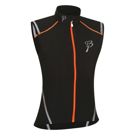 Жилет беговой Bjorn Daehlie Vest VISO Women 99949 (black/shocking orange) черный/оранж