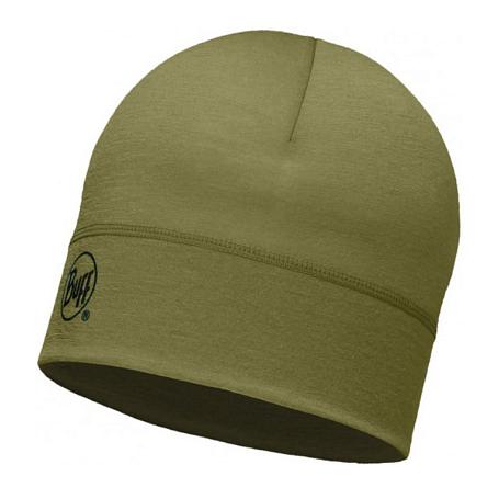 Купить Шапка BUFF WOOL MERINO 1 LAYER HAT SOLID LIGHT MILITARY Банданы и шарфы Buff ® 1263600