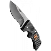 Нож складной Gerber Bear Grylls Compact Scout, Drop Point, Serrated (Blister)