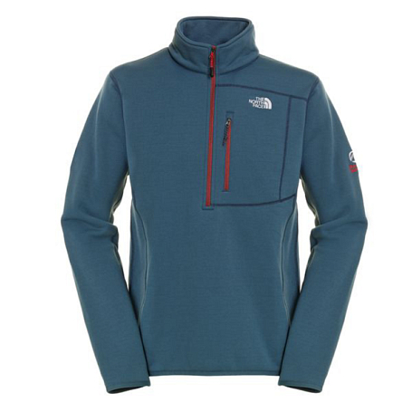 Жакет туристический THE NORTH FACE 2012-13 Summit M FLUX POWER STRETCH 1/4 ZIP (CONQUER BLUE) синий