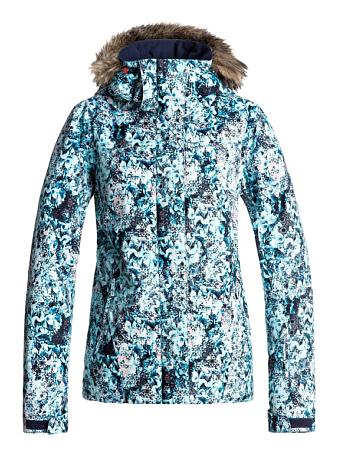 Купить Куртка сноубордическая ROXY 2017-18 JET SKI JK J SNJT BFK9 ARUBA BLUE_KALEIDOS FLOWERS Одежда 1360456