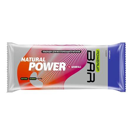 Купить Батончик POWERUP Энергетический батончик FRUIT+NUTS 50г. MUESLI черника Спортивное питание 1313145