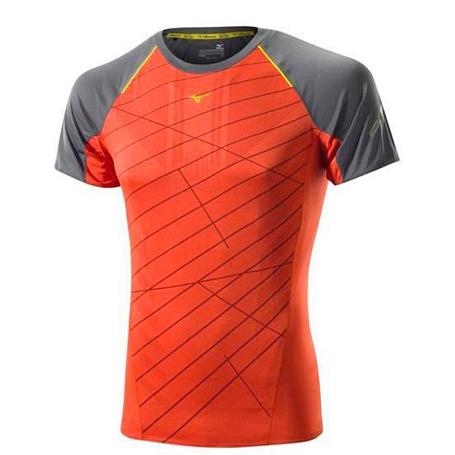 Купить Футболка беговая Mizuno 2014 DryLite Premium Tee оранж Одежда для бега и фитнеса 1139465