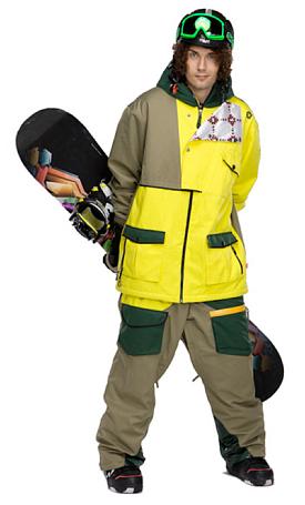 Купить Комбинезон сноубордический SESSIONS 2011-12 Benchetler Bib 01Y Yellow Одежда сноубордическая 745036