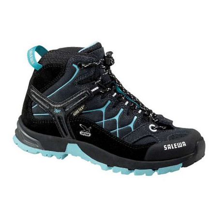 Купить Ботинки для треккинга (высокие) Salewa Junior Approach JR ALP TRAINER MID GTX carbon-peacok Треккинговая обувь 896846