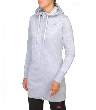 Куртка туристическая THE NORTH FACE 2014 Logowear W PARKA FZ HD HEATHER GREY серый