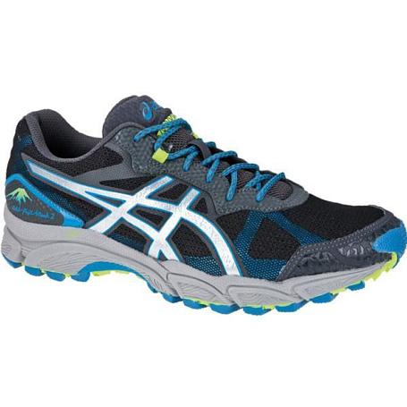 Купить Беговые кроссовки для XC Asics 2013 GEL-FujiAttack 2 Чёрный/Светло-серый/Голубой Кроссовки бега 903495