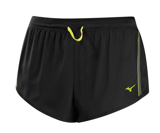 Купить Шорты беговые Mizuno 2014 DryLite Premium Square 2.5 чер/желт, Одежда для бега и фитнеса, 1139461