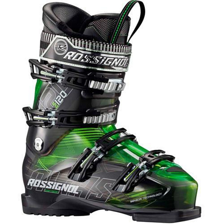 Горнолыжные ботинки ROSSIGNOL 2013-14 ALL MUONTAIN ALIAS SENSOR 120 GREEN TRANSP