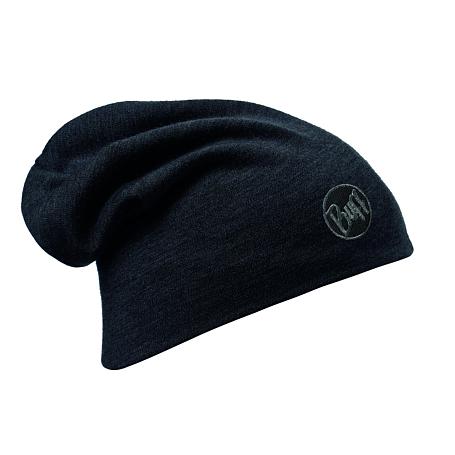 Купить Шапка BUFF HEAVY MERINO WOOL LOOSE HAT SOLID BLACK, Головные уборы, шарфы, 1169269