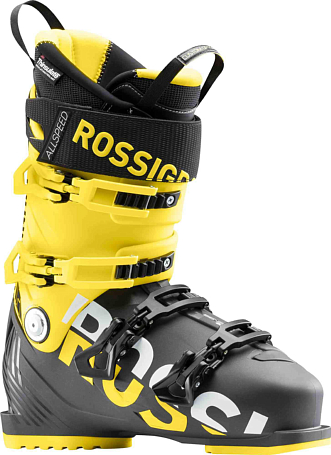 Купить Горнолыжные ботинки ROSSIGNOL 2017-18 ALLSPEED 120 BLACK/YELLOW Ботинки горнoлыжные 1363774