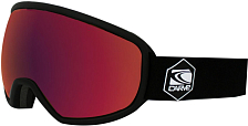 Очки горнолыжные Carve Shoots 6167 Matt black, Rose lens, Red Iridium