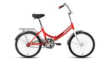ВелосипедСкладные велосипеды<br>Велосипед для комфортного катания в городе.<br> <br> Особенности:<br> <br> - Комфортная посадка для прогулок по городу и за городом<br> - Top Tube: сечение верхней трубы<br> - Down Tube: сечение нижней трубы<br> <br> Страна производства: Россия<br> Вес: 13,9 кг<br> Рама<br> Материал/тип рамы: Сталь Hi-Ten<br> Ростовкa рамы: 14<br> Амортизация<br> Тип амортизации: Жесткая вилка<br> Вилка: Жесткая стальная<br> Рулевой узел<br> Рулевая колонка: Neco, 1, резьбовая<br> Вынос руля: Резьбовой стальной хромированный<br> Руль: Стальной хромированный, комфорт<br> Регулируемая высота: Да<br> Тормозная система<br> Тип тормозов: Ножной тормоз<br> Трансмиссия<br> Количество скоростей: 1<br> Каретка: Neco, стальная<br> Система шатунов: Golden Swallow GS-S112, стальная хромированная<br> Цепь: KMC C410<br> Колеса<br> Размер колес: 20<br> Втулки: Задняя: Kunteng / Передняя: Shunfeng, стальные хромированные<br> Материал и тип ободов: Алюминиевые двустеночные<br> Обода: Forward DW, крашеные<br> Покрышки: Forward, 20x1,95 (30tpi)<br> Дополнительно<br> Седло: Cionlli Comfort<br> Подседельный штырь: Сталь, 28,6x400 мм<br> Крылья: Полноразмерные стальные хромированные<br> Багажник: Стальной с зажимом хромированный<br> Возможность крепления багажника: Есть<br> Подножка: Есть<br> Звонок: Есть<br> Возможность установки передней корзины: Есть<br> Передний и задний катафот: Есть<br> <br> Рекомендуемые аксессуары: