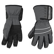 Перчатки горныеПерчатки, варежки<br>Утепленные и непромокаемые перчатки PoivreBlanc W15-0970-JRBY подходят для катания на лыжах/сноуборде или для повседневного ношения в городе в очень холодную погоду. Манжеты перчаток с липучкой Velcro, исключающей попадание снега, а также для удобного надевания. В области ладоней вставки из прочного нескользящего материала с хорошим сцеплением. Внутренняя поверхность из мягкого флисового материала для большего комфорта и утепления.<br><br>• Внешний материал: 100% нейлон.<br>• Мембрана: Hipora (8000/8000).<br>• Внутренняя подкладка из мягкого флисового материала.<br>• Материал ладони: прочный износостойкий материал.<br>• Манжеты на резинках застегиваются на липучки.<br>Конструкция перчаток 3D (заранее сформованная) не стесняет движений, обеспечивает ловкость при использовании.<br>• Логотип: PoivreBlanc.<br><br>Сезон: 15-16Пол: Для детей и подростков<br><br>Пол: Мужской<br>Возраст: Детский<br>Вид: перчатки
