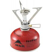 Горелка газоваяТопливное оборудование<br>Как отмечается во многочисленных отзывах, газовая горелка MSR Pocket Rocket вполне соответствует своему названию.<br>По внешнему виду и звукам, издаваемым во время эксплуатации, она похожа на космический корабль, что, в общем, придаст вашему путешествию особый шик, особую изюминку.<br> <br>Литр воды на горелке MSR Pocket Rocket закипит примерно за 3,5 мин. Это может вас сильно выручить, когда баллонов с питьевой жидкостью нет, а вокруг достаточно много озер, рек или водоемов.<br>Более того, имея при себе эту горелку, вы можете просто не брать с собой обычную воду, чтобы сэкономить деньги, место в рюкзаке и силы на то, чтобы нести на своих плечах литры жидкости. <br> <br>MSR Pocket Rocket весит всего 85 г, обладает компактными габаритами. Благодаря всему этому она легко поместится в сумке или даже просто в кармане. <br> <br>С ее помощью можно делать&amp;nbsp;&amp;nbsp;кипяченую воду или супы, а вот чтобы приготовить на ней все, что может пригореть, нужна некоторая сноровка, т.к столб пламени направлен очень узко.<br>Однако стаканом горячего чая или кофе, или даже молока &amp;#40;если существуют любители брать в поход молоко&amp;#41; вы всегда сможете себя обеспечить при помощи газовой горелки MSR Pocket Rocket.<br><br>Характеристики:<br><br>Упаковочные размеры: 10,2 x5,1x5,1 см. <br>Мощность: 2400 вт<br>Подходит под любые газовые баллоны с резьбой таких фирм как MSR, Primus, Coleman, Markill<br>Время закипания 1л воды: 3,5 мин<br>Вес: 85 г<br>Ветрозащита: Нет<br>Пьезоподжиг: Нет
