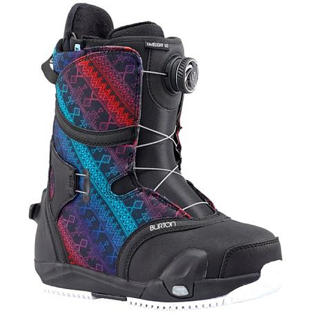 Купить Ботинки для сноуборда BURTON 2017-18 LIMELIGHT STEP ON BLACK/MULTI 1371900