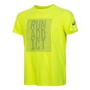 Футболка беговаяОдежда для бега и фитнеса<br>Мужская футболка с коротким рукавом выполнена из мягкой, удобной и дышащей ткани. В ней вам будет комфортно бежать любую дистанцию, будь то пятикилометровка или марафон. Легкий трикотаж избавит вас от излишней тяжести, а плоские швы - от досадного натирания на длинной дистанции. Спереди модель украшена стильным рисунком в виде спирали и светоотражающим логотипом ASICS. Никакого перегрева благодаря дышащему трикотажу. Никакого натирания благодаря плоским швам. Светоотражающий логотип ASICS.