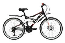 ВелосипедДвухподвесы<br>Подростковый для мальчиков &amp;#40;9-12 лет&amp;#41; велосипед Stark Striky Disc 2015. Модель оборудована алюминиевой рамой. Установленны вилка ZOOM 327, ободные механические тормоза, а также начальное оборудование. Stark Striky Disc 2015 – прекрасный выбор для подростка благодаря функционалу, безопасности и современному молодёжному дизайну.<br><br>Рама и амортизаторы<br><br>Рама: AL 6061 Junior<br>Вилка: ZOOM 327<br><br>Цепная передача<br><br>Манетки: SHIMANO SL-RS35<br>Передний переключатель: SHIMANO RD-TY21/FD-TZ30<br>Задний переключатель: SHIMANO RD-TY21/FD-TZ30<br>Шатуны: 42/34/24<br><br>Колеса<br><br>Обода: Alloy double wall/WANDA 24*1,95<br>Bтулка: DC 36H<br>Покрышка: WANDA 24*1,95<br><br>Компоненты<br><br>Передний тормоз: DISC 160mm механика<br>Задний тормоз: V-brake<br>Производство: Разработка: Россия. Производство: КНР &amp;#40;Тайвань&amp;#41;.<br><br>Пол: Унисекс<br>Возраст: Юниорский