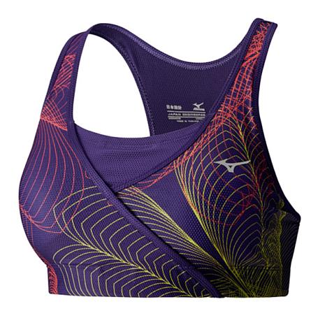 Купить Топ беговой Mizuno 2016 Multi Lotus Bra пурпур/мульти Одежда для бега и фитнеса 1264912