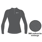 Футболка с длинным рукавом ACCAPI LONG SL.T-SHIRT 1/2 ZIP LADY (anthracite) серый