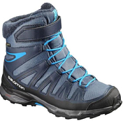 Ботинки городские (средние) Salomon X-ULTRA WINTER GTX J Slate Blue/Deep Blue/Sblue