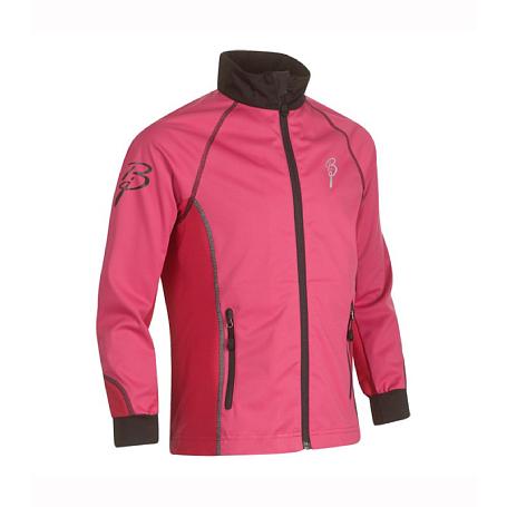 Купить Куртка беговая Bjorn Daehlie Jacket SECTOR Junior Beetroot Pink/Black (розовый/черный) Одежда лыжная 859415