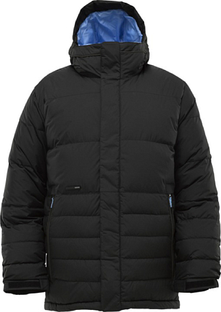 Куртка сноубордическая BURTON 2011-12 Mens burton outerwear CUSHING DOWN JACKET TRUE BLACK