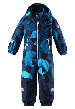 Купить Комбинезон горнолыжный Reima 2017-18 Snowy Blue Детская одежда 1351636