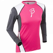 �������� � ������� ������� Bjorn Daehlie UNDERWEAR Shirt DRY LS Women Pink Glo/Periscope/Bright White (�������/�����-�����/�����)
