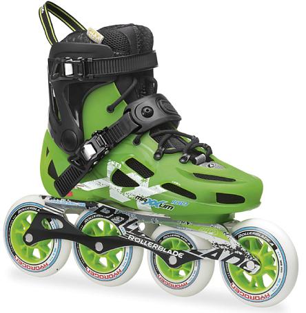 Купить Роликовые коньки Rollerblade 2014 MAXXUM 100 BLACK/ACID GREEN Ролики взрослые 1076320