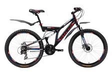 ВелосипедДвухподвесы<br>Двухподвесный велосипед Stark Jumper Disc 2015. Установлены вилка Zoom CH421, а также начальное оборудование. <br><br>Рама и амортизаторы<br><br>Рама: Al 6061<br>Вилка: Zoom CH421<br><br>Цепная передача<br><br>Манетки: Shimano ST-EF51<br>Передний переключатель: Shimano TX-50<br>Задний переключатель: Shimano TX-35<br>Шатуны: 42/34/24<br>Кассета: Shimano TZ21 14-28t<br>Цепь: TAYA TB50<br><br>Колеса<br><br>Обода: Alloy двойные<br>Покрышка: Wanda 26*1,95<br><br>Производство: Разработка: Россия. Производство: КНР &amp;#40;Тайвань&amp;#41;.<br><br>Пол: Мужской<br>Возраст: Взрослый