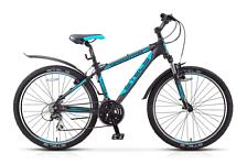 ВелосипедКолеса 26 (стандарт)<br>Горный велосипед Stels Navigator 650 V 2016. Велосипед оборудован алюминиевой рамой. Установлены пружинно-эластомерная вилка SR SUNTOUR XCM, ход 80мм, ободные механические тормоза, а также полупрофессиональное оборудование. Stels Navigator 650 V 2016 прекрасно подойдёт для катания как в городе, так и по пересечённой местности.<br>Рама и амортизаторы<br>Рама: алюминий<br>Вилка: SR SUNTOUR XCM, ход 80мм<br>Цепная передача<br>Манетки: SHIMANO Altus, ST-EF51<br>Передний переключатель: SHIMANO Tourney, FD-TY510<br>Задний переключатель: SHIMANO Acera, RD-M360<br>Каретка: картридж<br>Количество скоростей: 21<br>Педали: FEIMIN, пластик<br>Колеса<br>Обода: алюминий двойные<br>Bтулк: KT, алюминий<br>Покрышка: CHAO YANG, 26x2.0<br>Компоненты<br>Передний тормоз: TEKTRO V-типа<br>Задний тормоз: TEKTRO V-типа<br>Рулевая колонка: CHIN HAUR, алюминий/сталь<br>Седло: Cionlli<br><br>Пол: Унисекс<br>Возраст: Взрослый