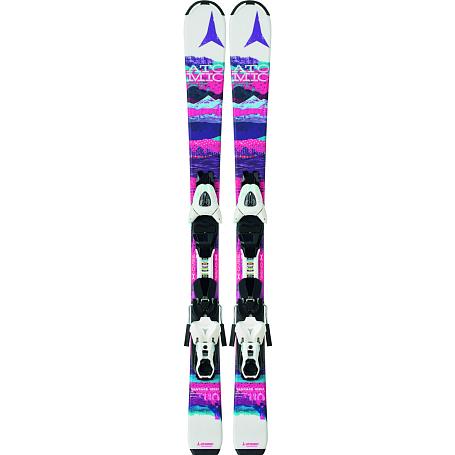 Купить Горные лыжи с креплениями ATOMIC 2014-15 Junior&Kids VANTAGE GIRL II & XTE 045 white/pink, лыжи, 1140250