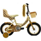 ВелосипедДо 6 лет (колеса 12-18)<br>Велосипед для девочек от 1,5 до 3 лет. Удобная заниженная рама, позволяющая легко садиться и слезать с велосипеда. Съёмные боковые колёсики помогут в обучении катанию. Высокий руль и эргономичное сиденье обеспечивают комфортную посадку. Руль регулируется как по высоте, так и по углу наклона. Задний ножной тормоз. Полная защита цепи, мягкие накладки на руле, звонок - всё это сделано для безопасного катания Вашего ребёнка. В комплект велосипеда входят: крылья, корзинка для перевозки различных вещей, сиденье для куклы или мягкой игрушки. Комплектуется ручкой управления.<br><br>&amp;nbsp;&amp;nbsp; Диаметр колес - 12 дюймов, вес - 10,5 кг.<br><br>Пол: Унисекс<br>Возраст: Детский
