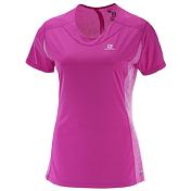 Футболка беговаяОдежда для бега и фитнеса<br>Легкая футболка женственного дизайна изготовлена из двух различных материалов, чтобы обеспечить отличную вентиляцию. В ней можно заниматься спортом в любое время года, а благодаря светоотражающим логотипам спереди и сзади – и в любое время суток.&amp;nbsp;<br> <br> - Светоотражающие элементы&amp;nbsp;<br> - AdvancedSkin ActiveDry&amp;nbsp;<br> - Потайной карман&amp;nbsp;<br> - Светоотражающий логотип на груди и спине &amp;nbsp;<br>