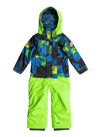 Купить Комбинезон сноубордический Quiksilver 2015-16 Rookie Kids K SNSU CHECK KASPER SNOW BLUE, Детская одежда, 1215799