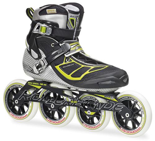 Купить Роликовые коньки Rollerblade 2014 TEMPEST 110 SILVER/GREEN, Ролики взрослые, 1076109