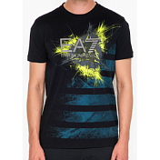 Футболка Для Активного Отдыха Ea7 Emporio Armani 2016 Man's Knit T-shirt Notte