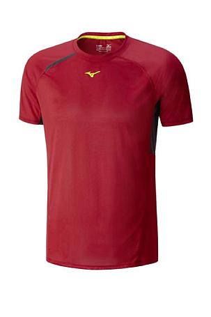 Купить Футболка беговая Mizuno 2016 Premium Aero Tee красный Одежда для бега и фитнеса 1264808