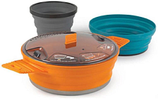 Набор посуды Sea To Summit X-Se 21 Orange Pot/Pacific Blue Bowl/Grey Mug