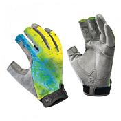 Перчатки рыболовныеАксессуары Buff ®<br>Dorado S/M - технологичные рыболовные перчатки с креативным дизайном. <br>Прекрасно облегают кисть, защищают от проникновения влаги и физических повреждений кожи. <br>Ладонь перчатки не скользит с прикосновением мокрой поверхности. <br>Три пальца перчатки укорочены на 3/4, а два полностью покрывают пальцы для лучшей защиты. <br>Манжета регулируется липучкой. <br>Фактор защиты от солнца - UPF 50&amp;#43;. <br>Состав: ладонь - 60% нейлон, 40% полиуретан; верх: 100%полиэстер, манжета - 82% нейлон, 18% полиуретан, трикотаж/полиуретан