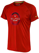 Футболка беговая Mizuno 2016 Transform Tee красный