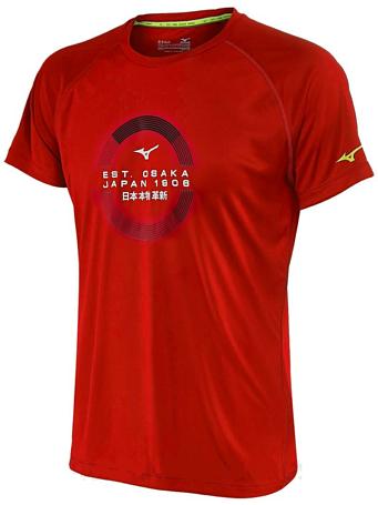 Купить Футболка беговая Mizuno 2016 Transform Tee красный Одежда для бега и фитнеса 1264859